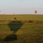 Sunrise hot air balloon safari over the Maasai Mara in Kenya