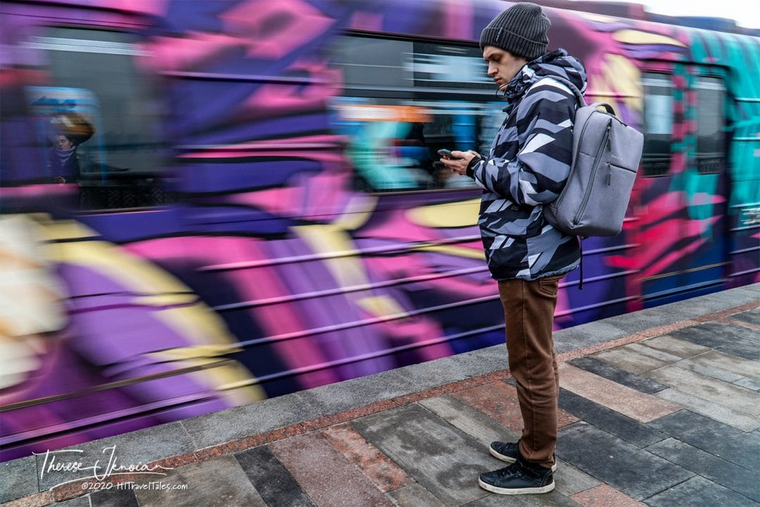 Kyiv Train Blur Street Art