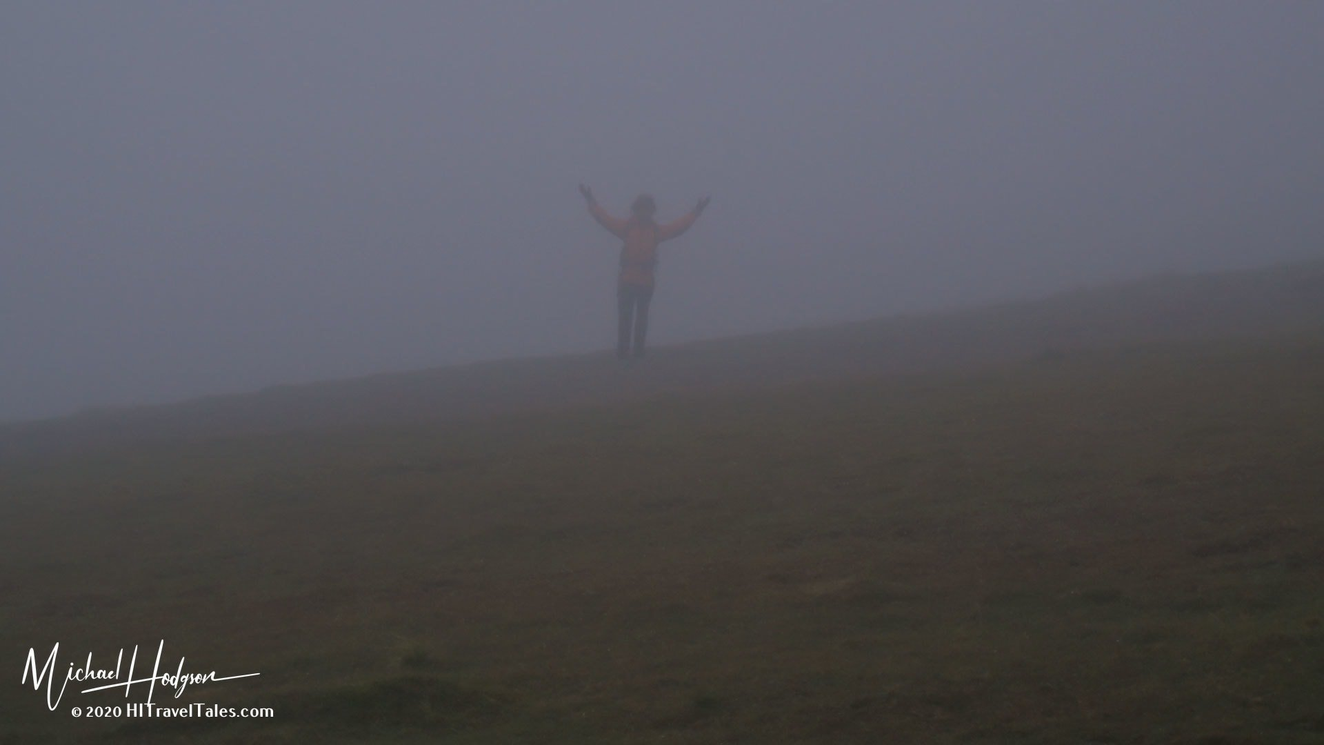 Dense Fog In The Lake District While Hiking Near Lake Windermere - the reason for the British Insults
