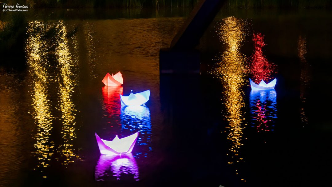 Light Festival Berlin Pianosee Boats