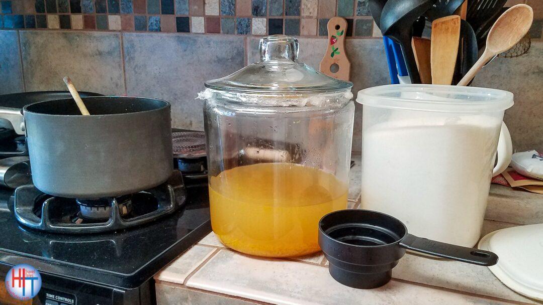 Limoncello Sugar Syrup Mixture