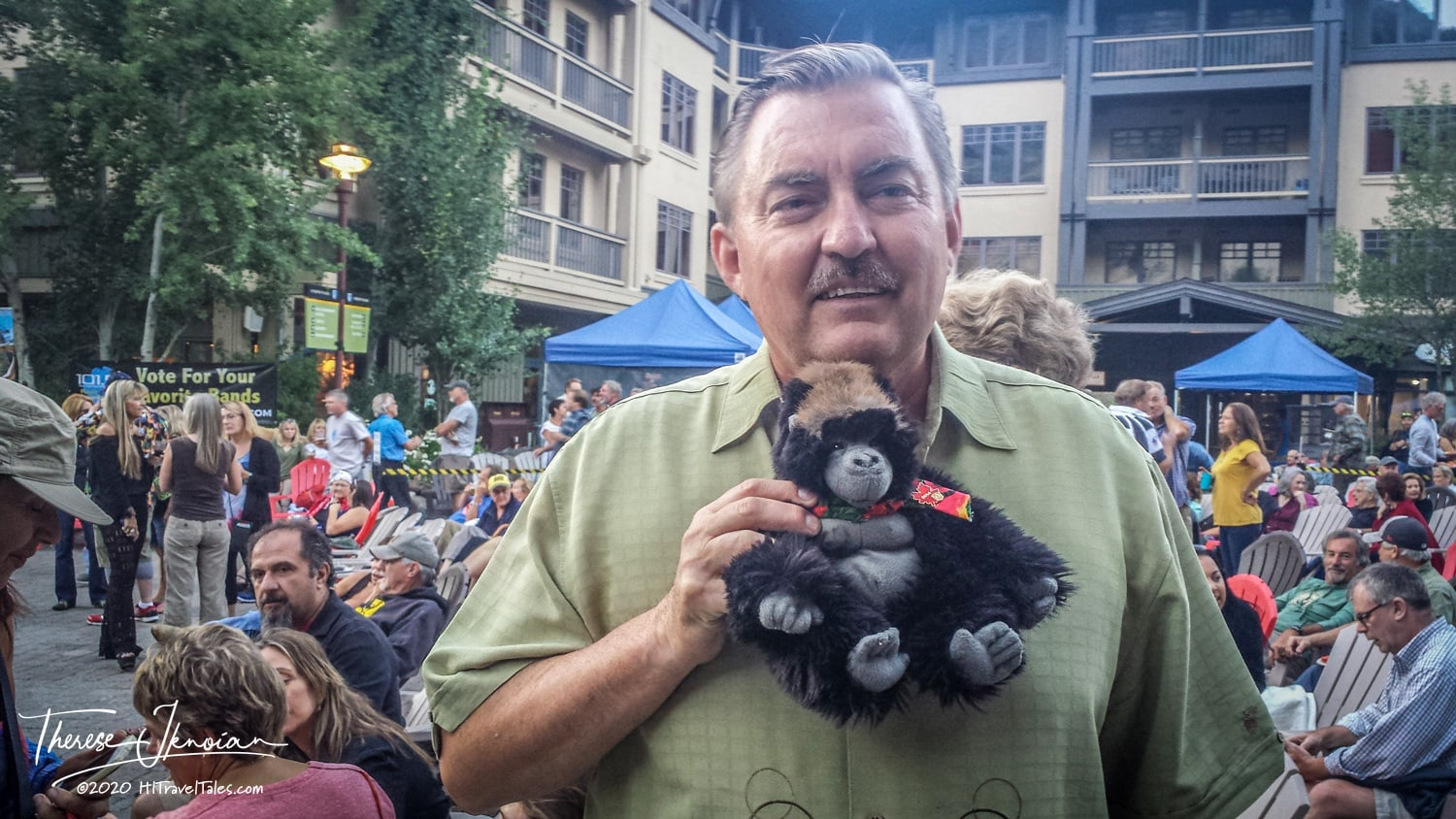 Charles Baty At With JoJo The Gorilla In Squaw Valley