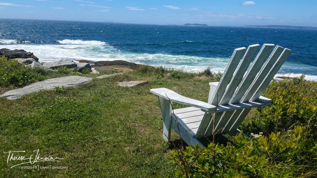 Taking in the view from an Adirondack chair one of the many things to do in MidCoast Maine