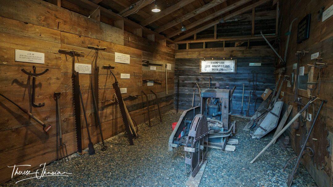 Midcoast Maine Museums Ice House Harvesting