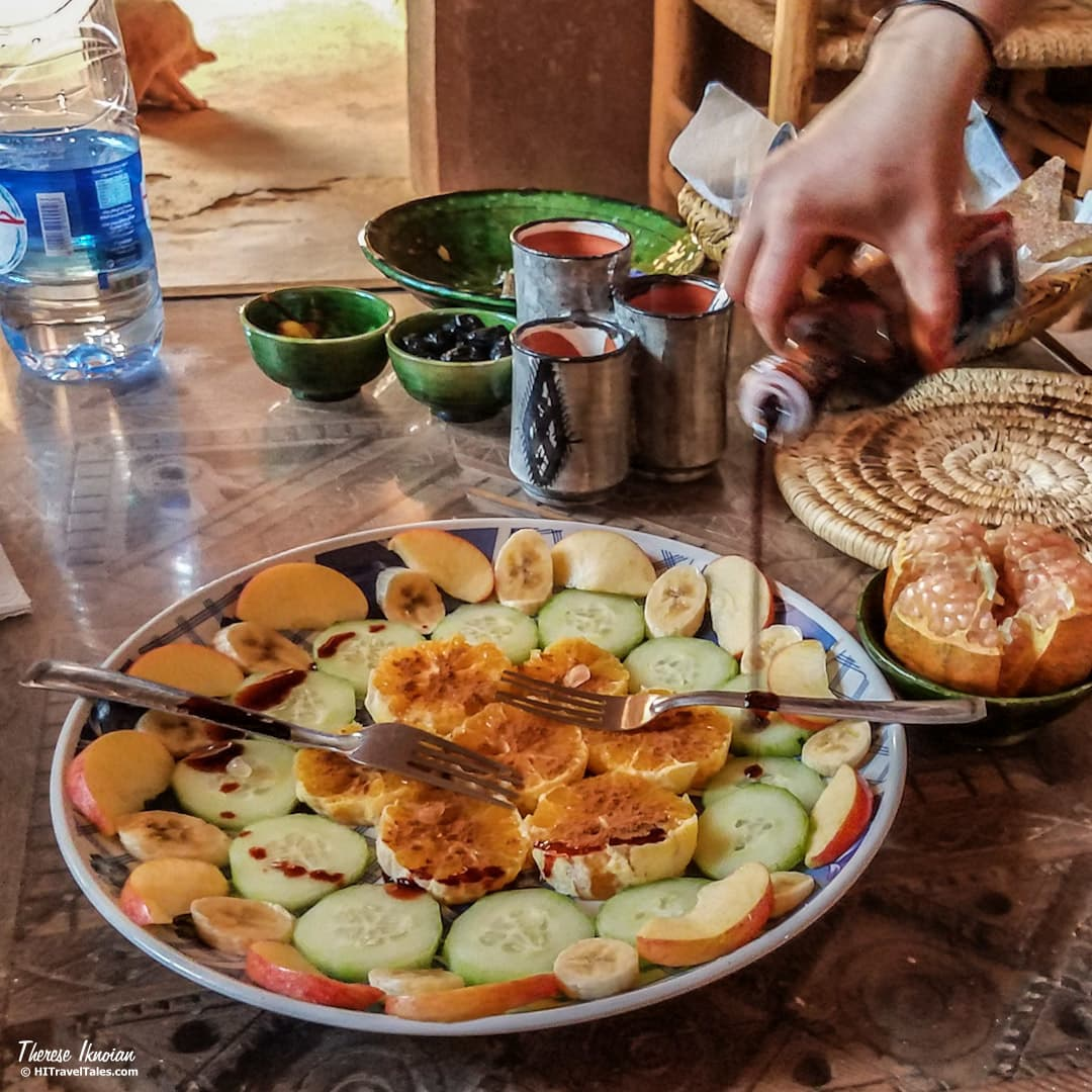 Moroccan fruit desert in Tamnougalt