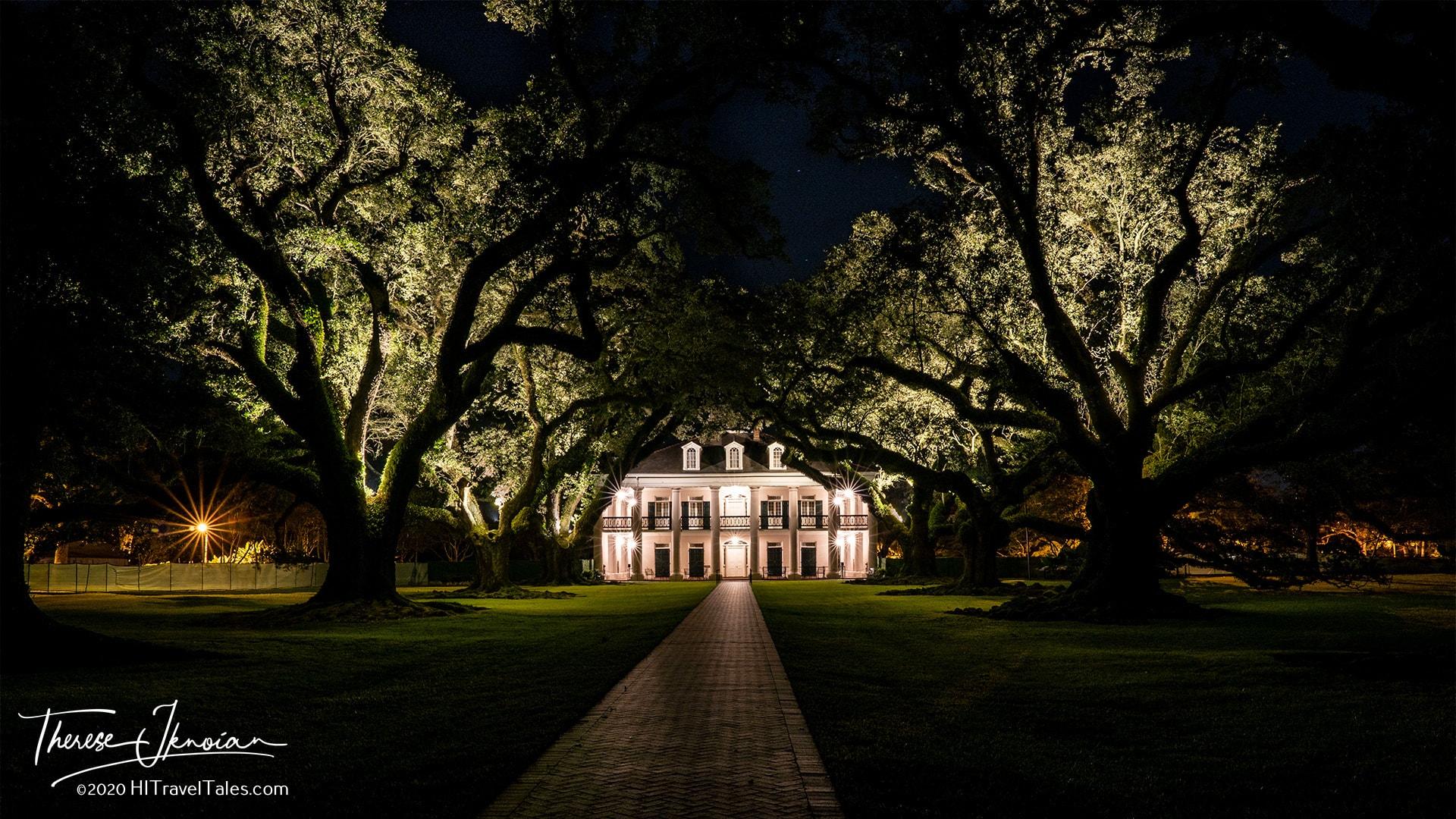 Oak Alley Plantation Night Walkway