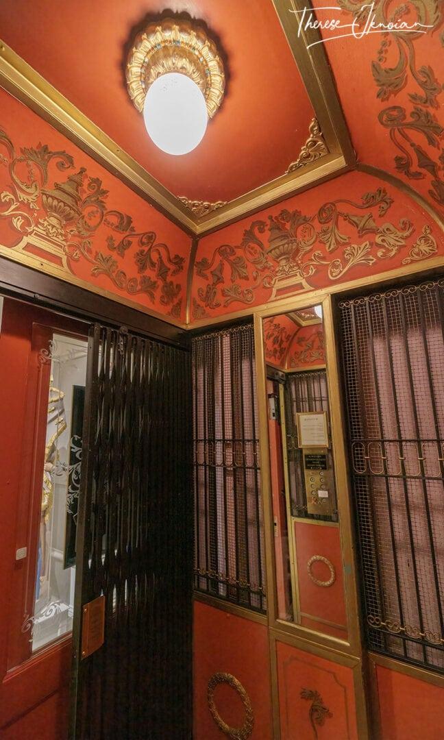 Otis Elevator Cornell Hotel French Decor