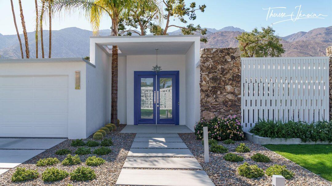 Palm Springs Blue Modernism Door