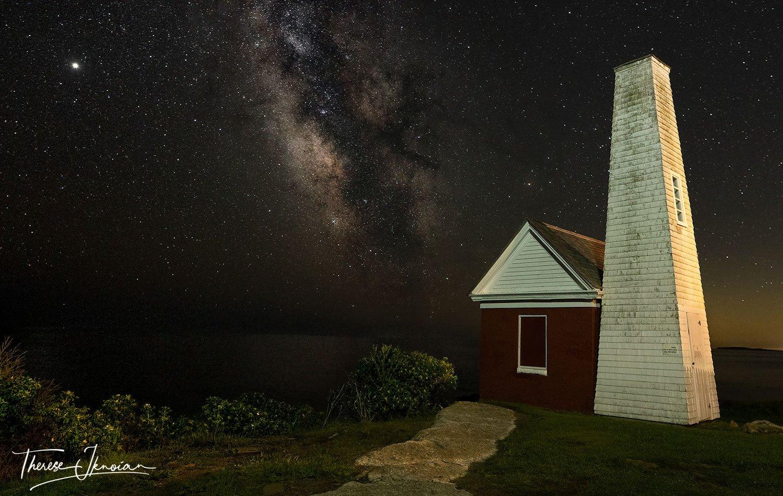 Pemaquid Bell Tower Milky Way