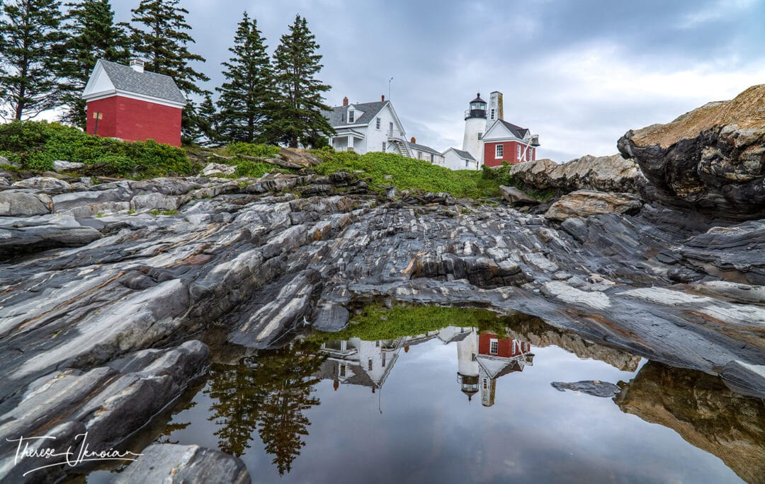 Pemaquid Lighthouse Maine Reflections