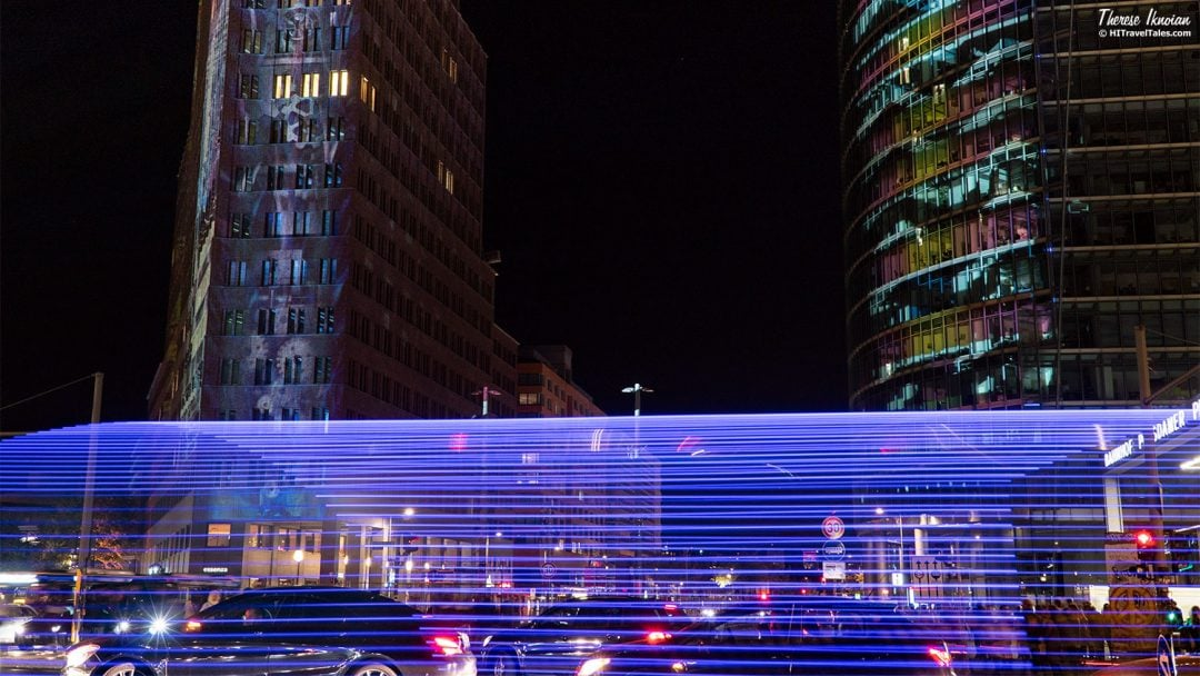 Potsdamer Platz Light Trails Berlin Lights