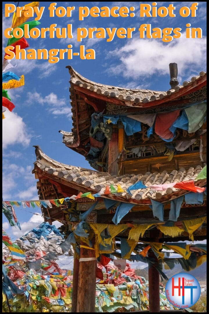 Pray For Peace Riot Of Colorful Prayer Flags In Shangri La