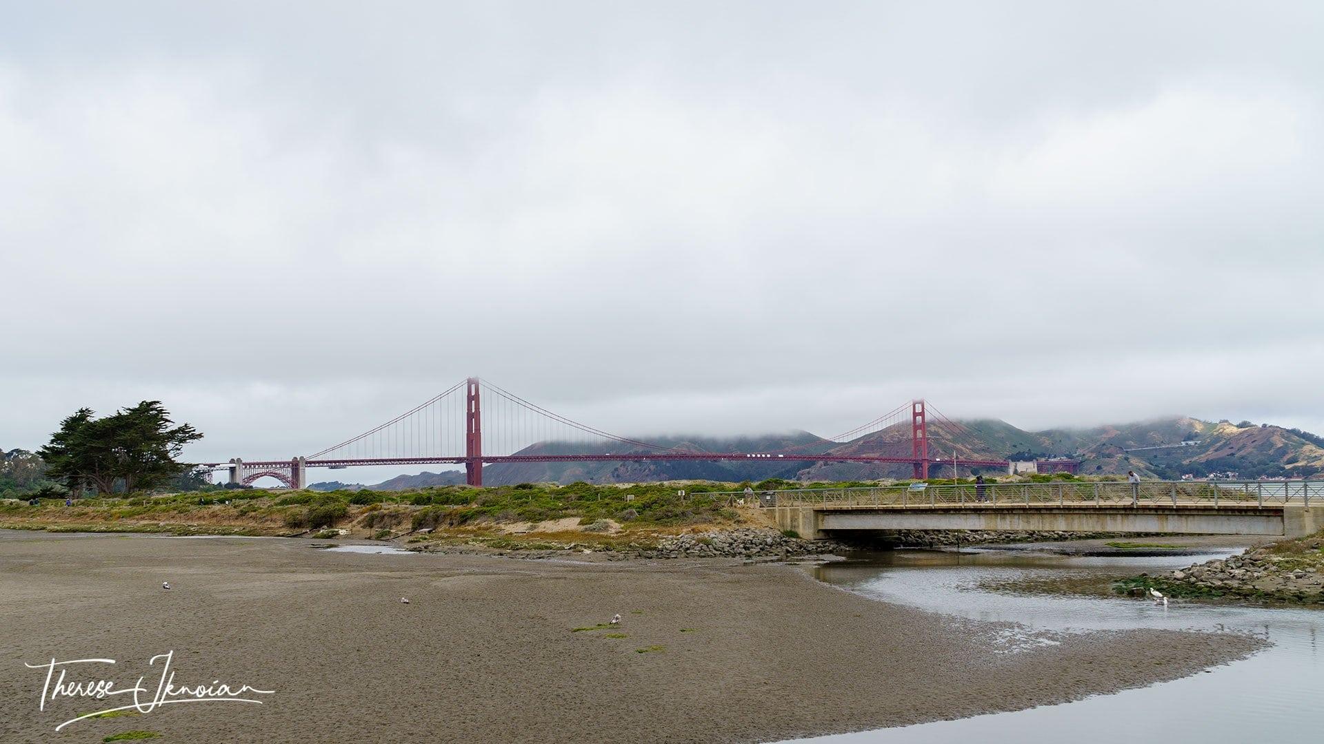 What to do in Presidio San Francisco - tidal marsh and Golden Gate Bridge views