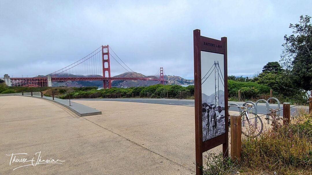 Presidio Bike Path Golden Gate Bridge View