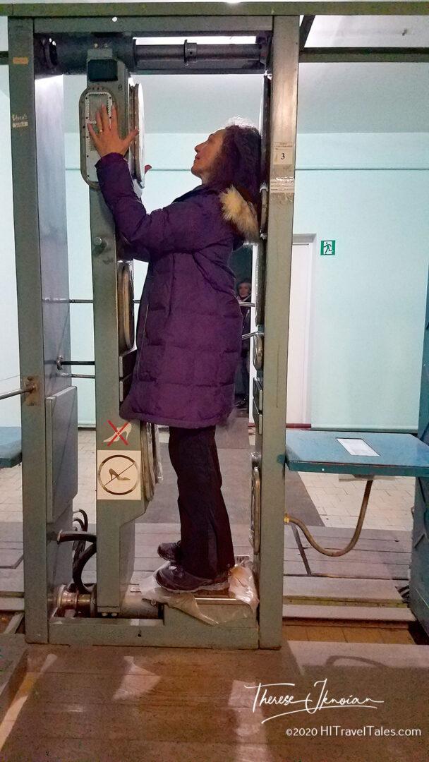 Radiation Check Leaving Chernobyl Zone Ukraine