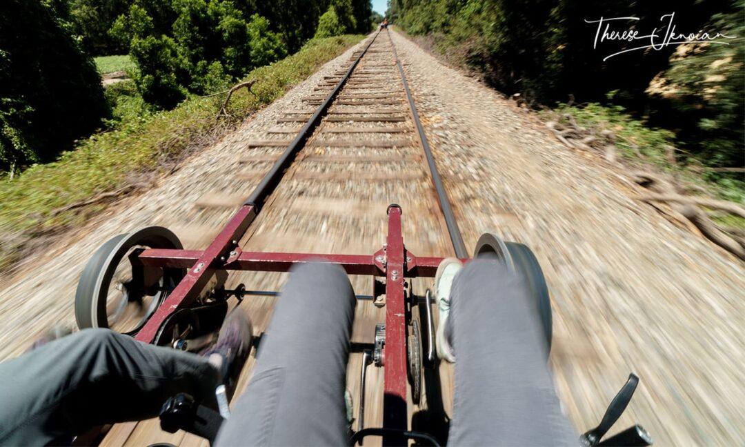 Railbikes Pedaling Sacramento