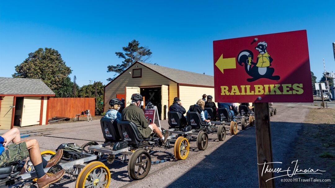 Railbiking California - The Depot for the Skunk Train in Fort Bragg