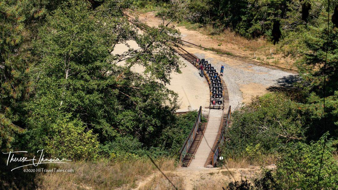 Railbiking Skunk Train Redwoods Mendocino