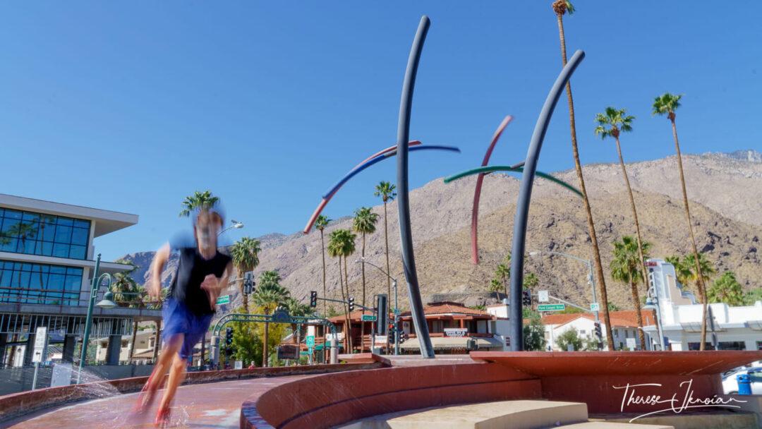 Rainmaker Boy Playing Palms Springs Art