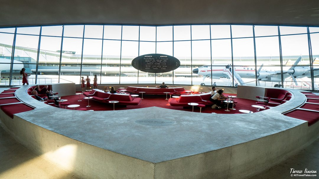 Retro TWA Hotel At JFK Sunken Lounge Bar Curves