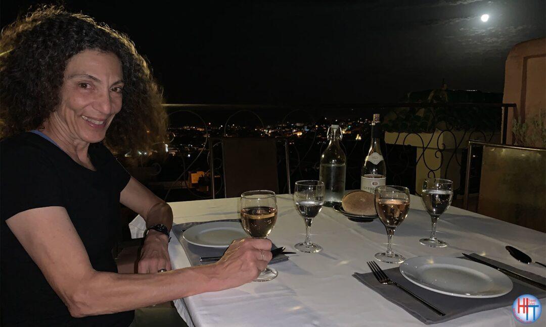 Rooftop Terrace Riad Laaroussa Dinner
