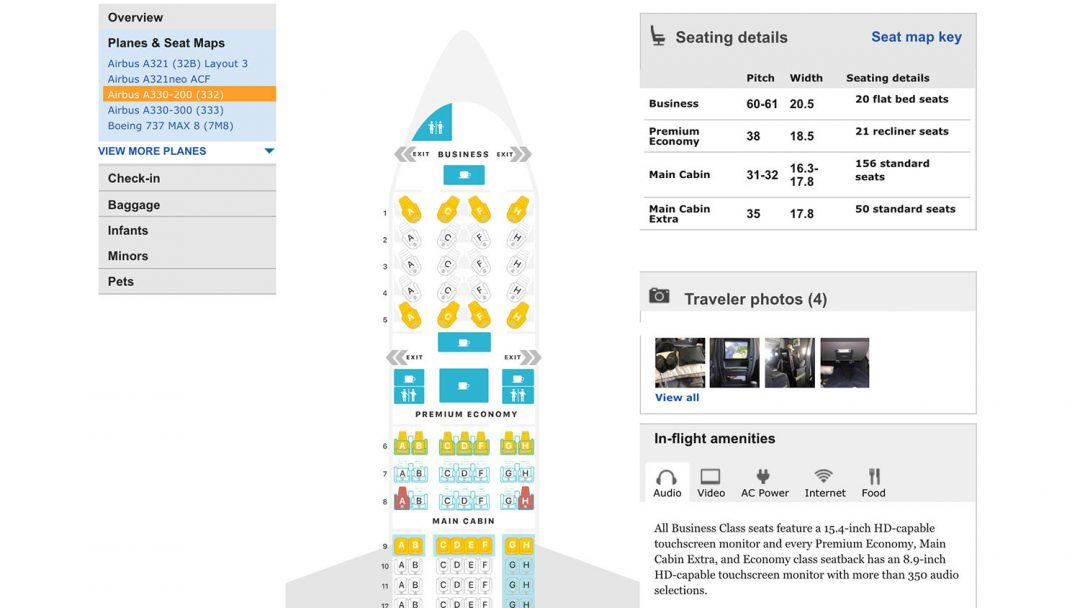 Seat Guru Chart