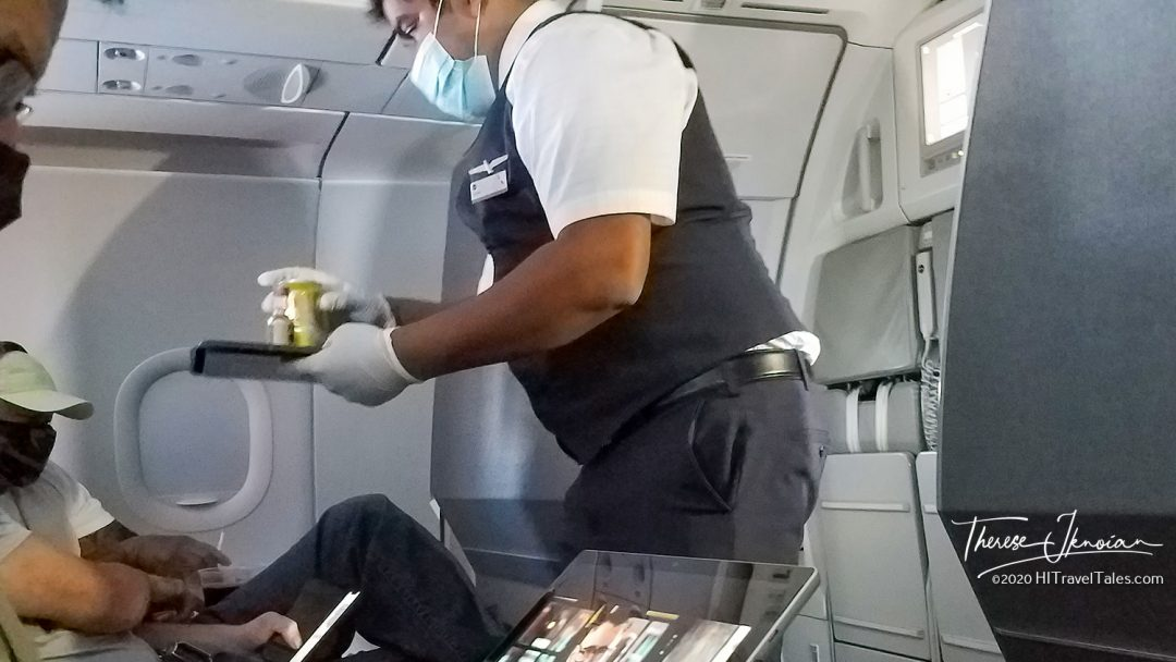 Serving Drink Gloves Airplane
