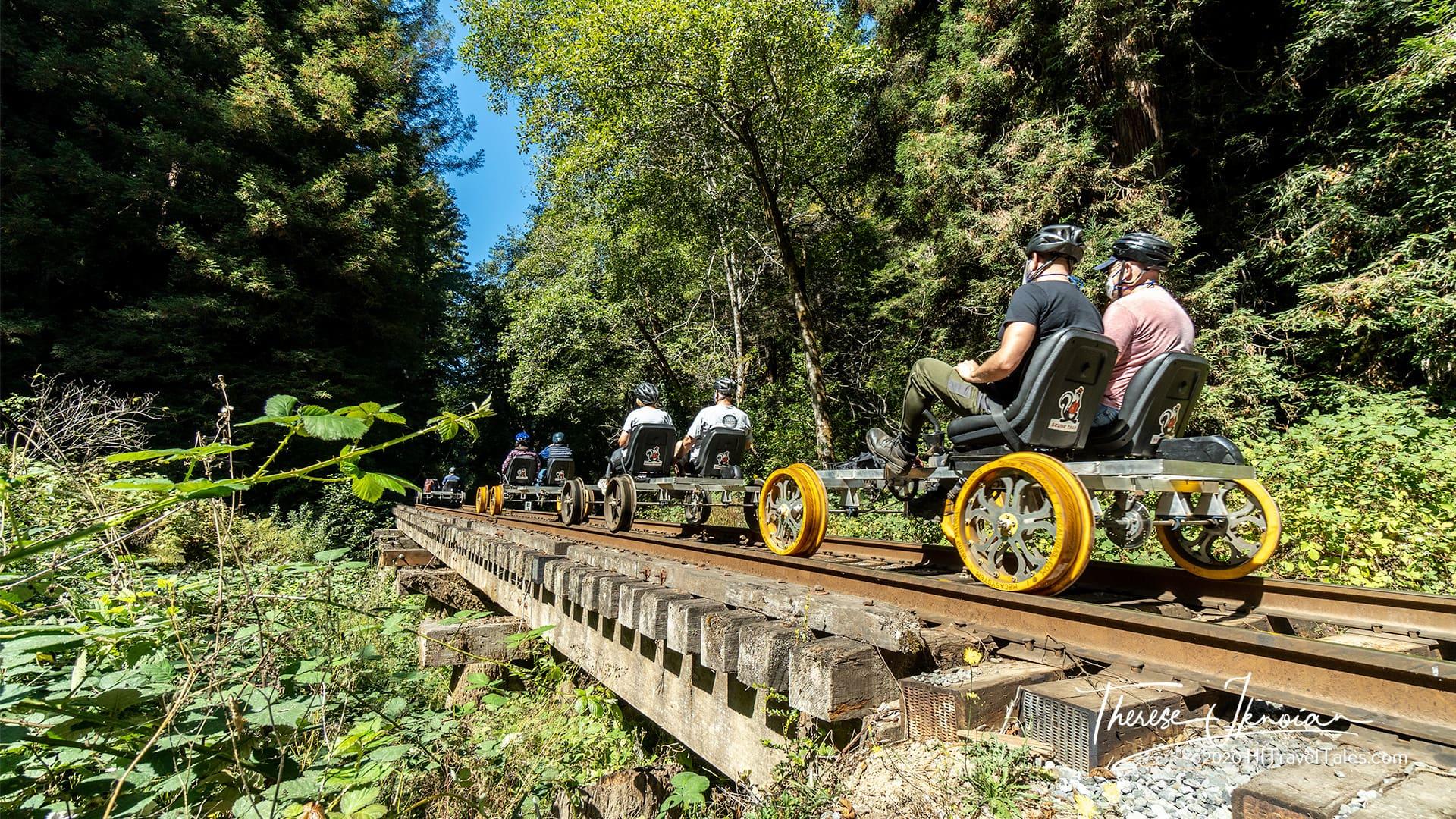 Skunk Train Railbikes Mendocino California