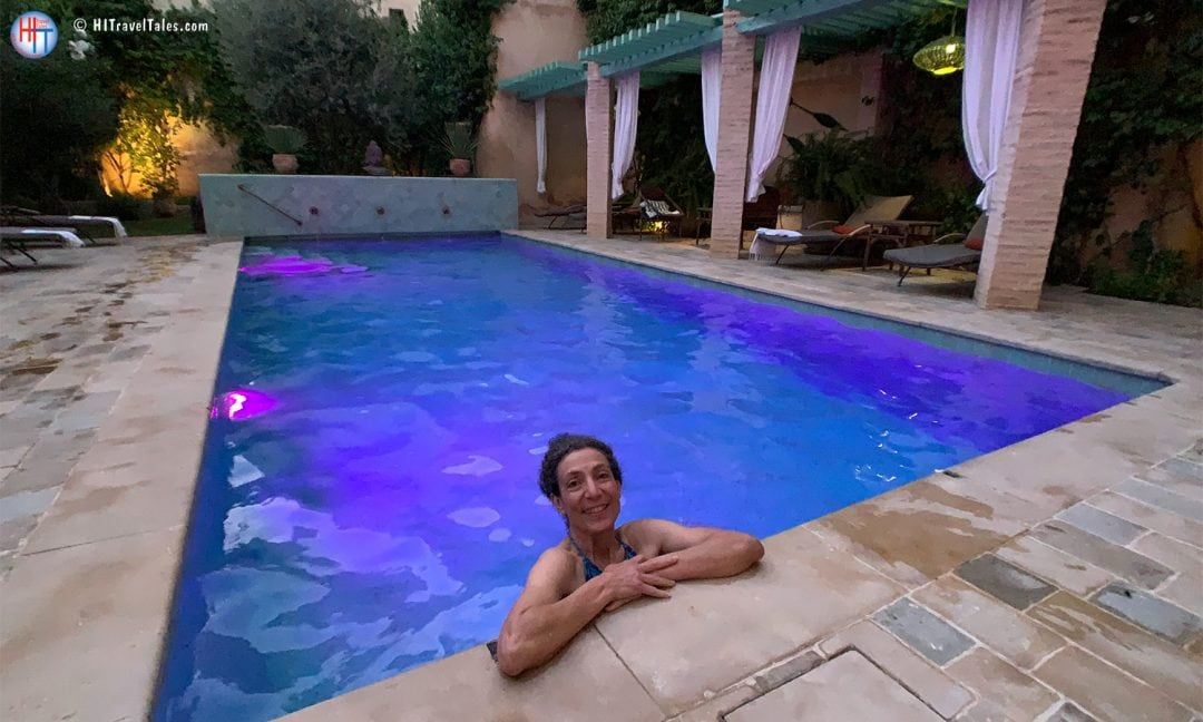 Swim In The Pool At Riad Laaroussa