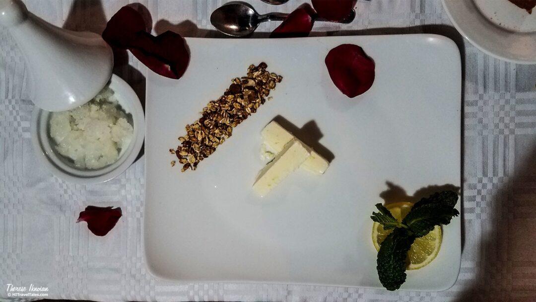 The Repose dinner dessert