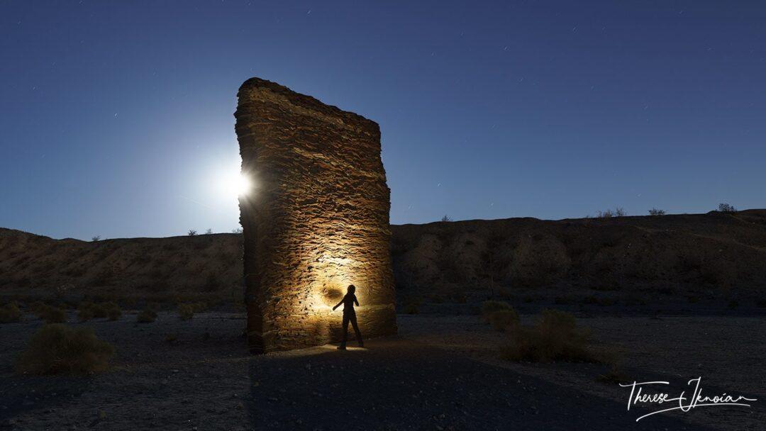 The Wall Desert X Palm Springs Light Paint
