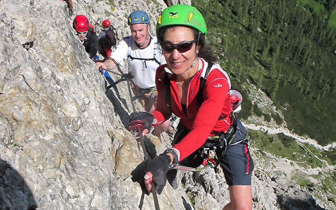 Therese Iknoian Dolomites Via Ferrata Tridentina