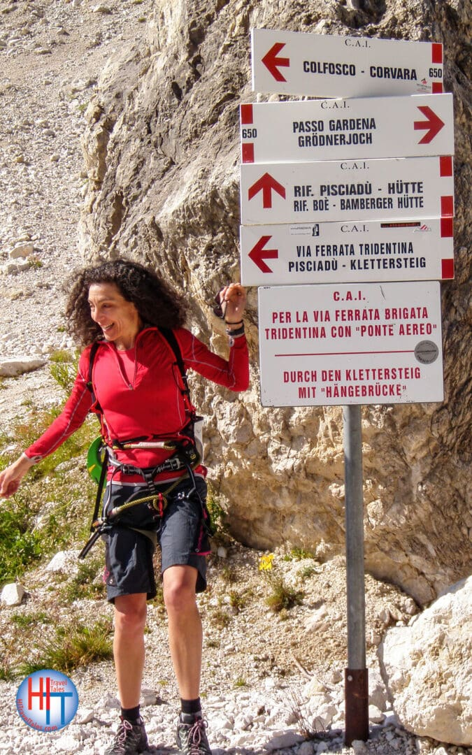 Therese Iknoian At The Base Of Via Ferrata Tridentina