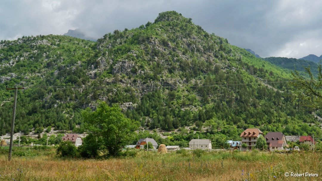 Theth village in Albania