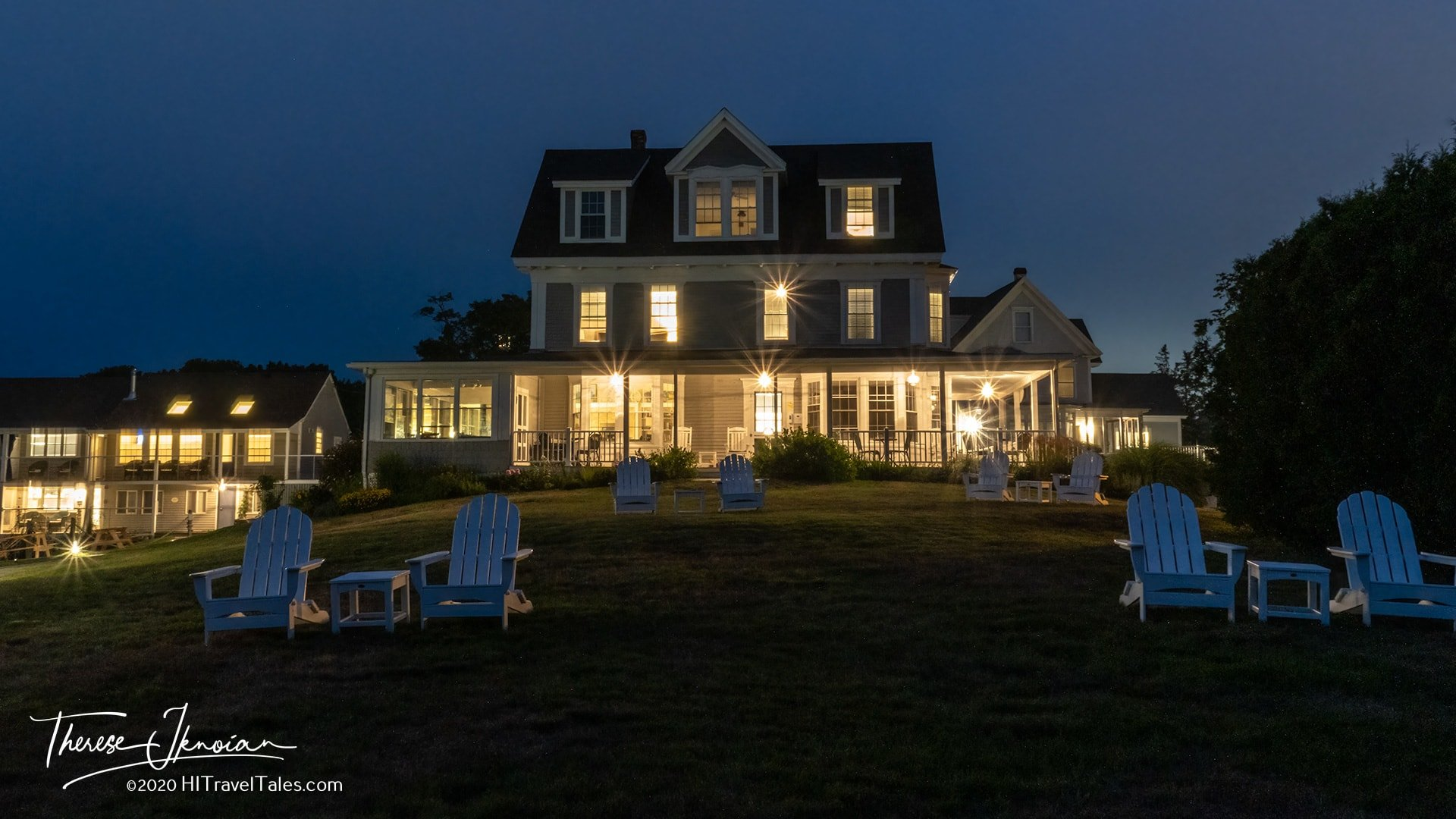 Topside Inn Best Hotel In Boothbay Harbor Night