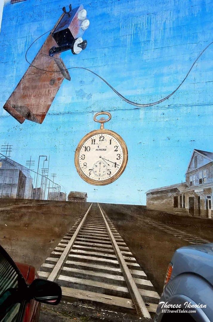 Train Tracks Street Art Grass Valley California