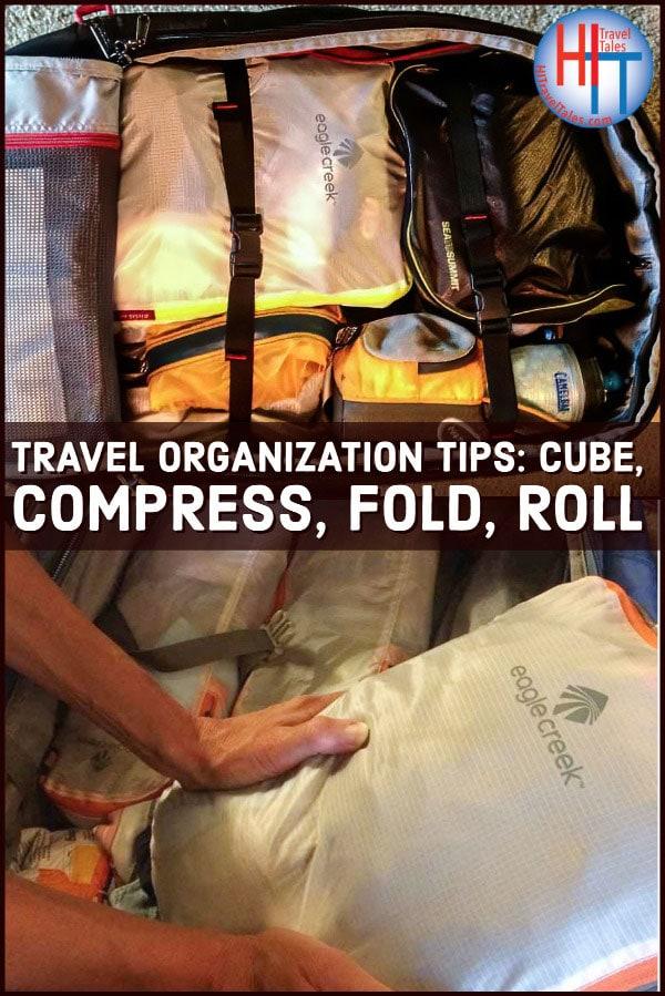 Travel Organization Tips Cube Compress Fold Roll