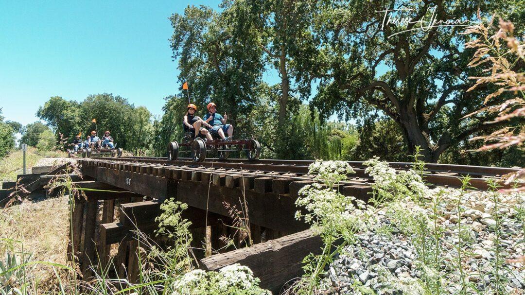 Trestle Railbike Crossing River Fox