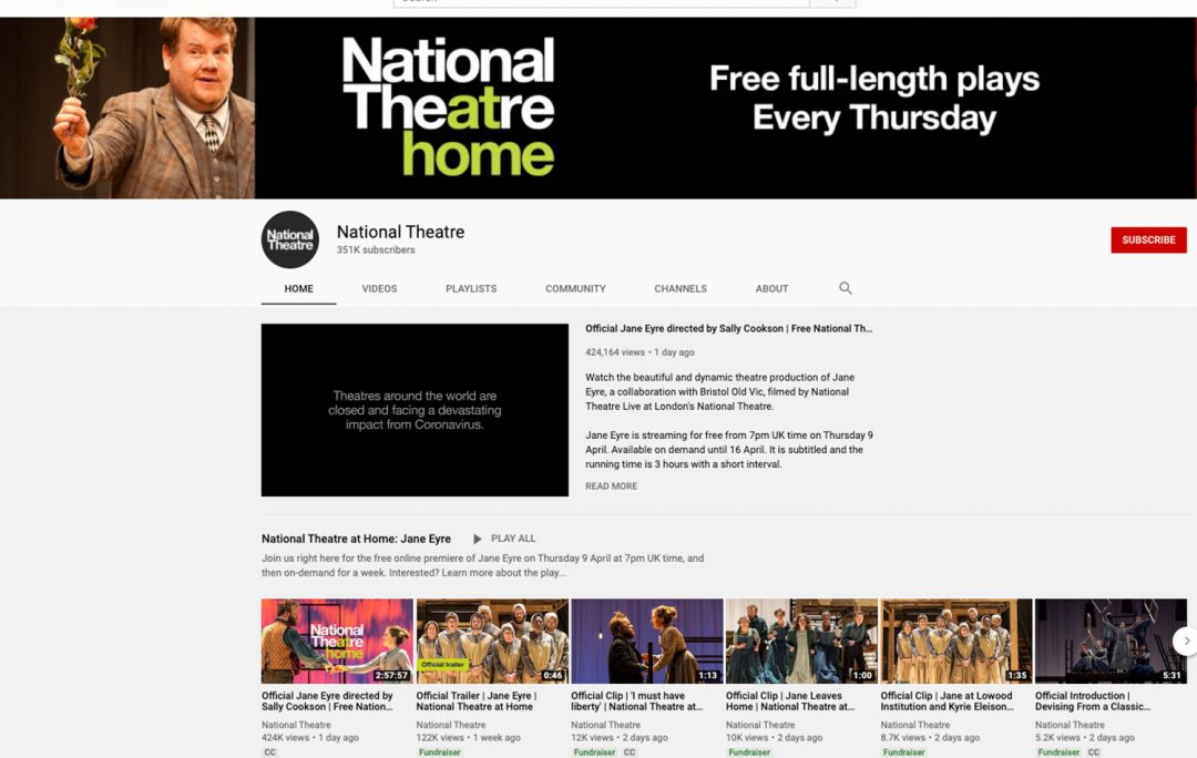 Virtual Travel London National Theater Plays