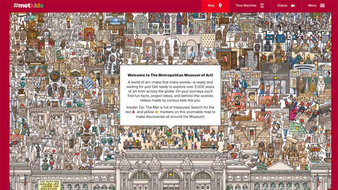 Virtual Travel Met Museum Kids Map