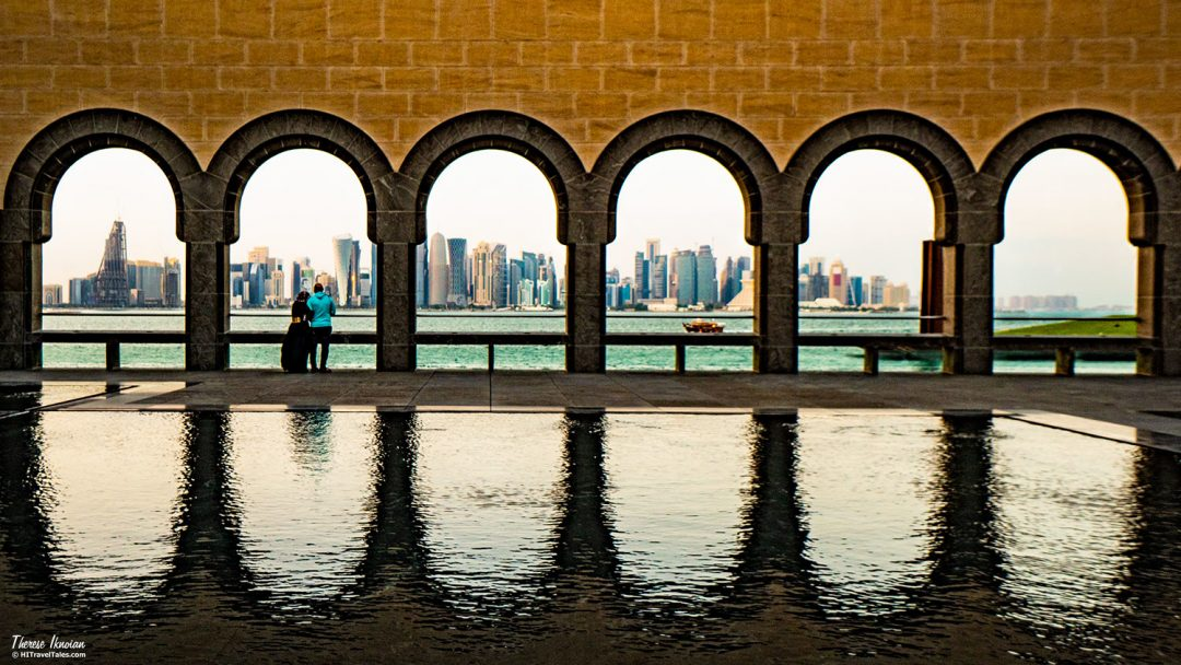 We Won Therese Doha Arches Reflections