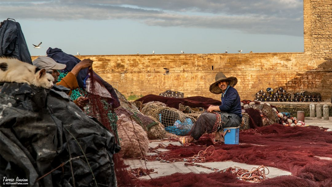 We Won Therese Essaouira Fisherman With Nets Cover photography award