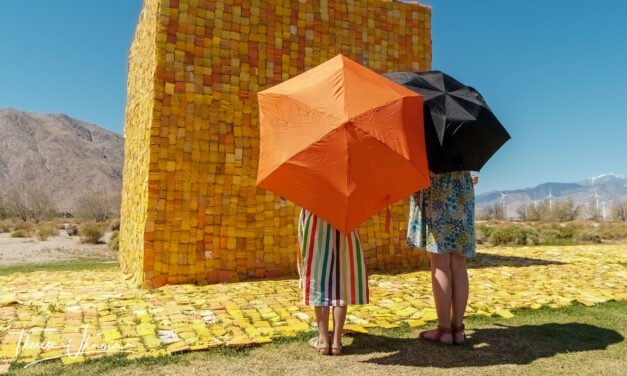 Awesome public outdoor art at Desert X 2021 in Coachella Valley