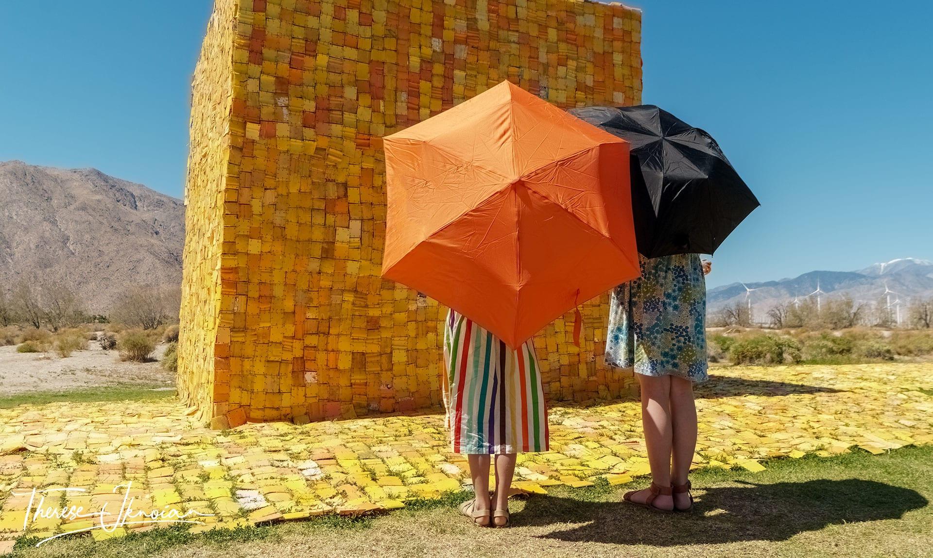 Wishing Well Umbrellas Desert X Palm Springs