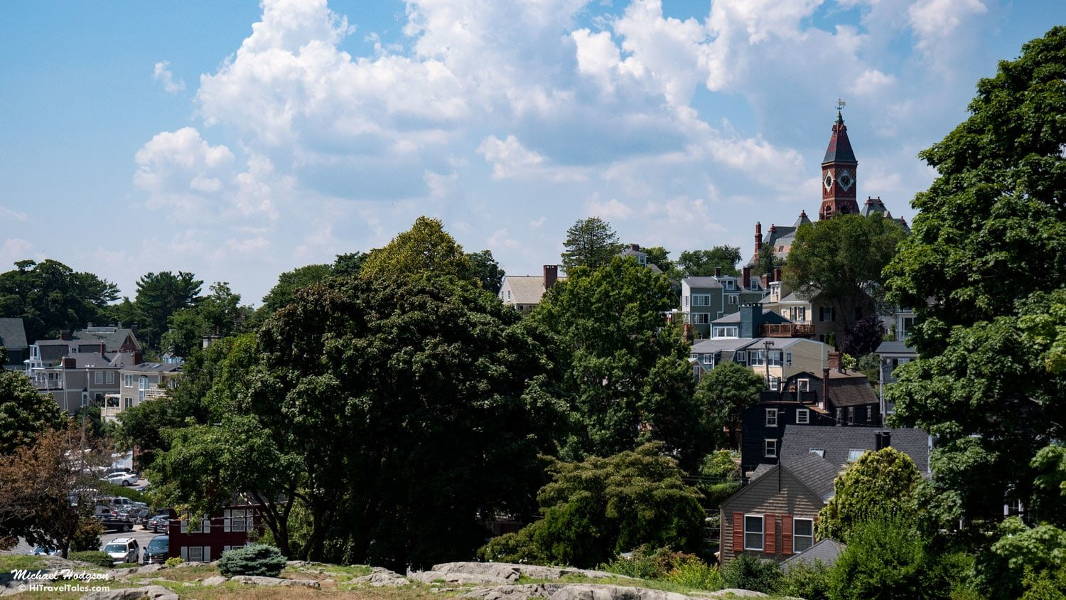 Abbott Hall View From Crocker Park Marblehead