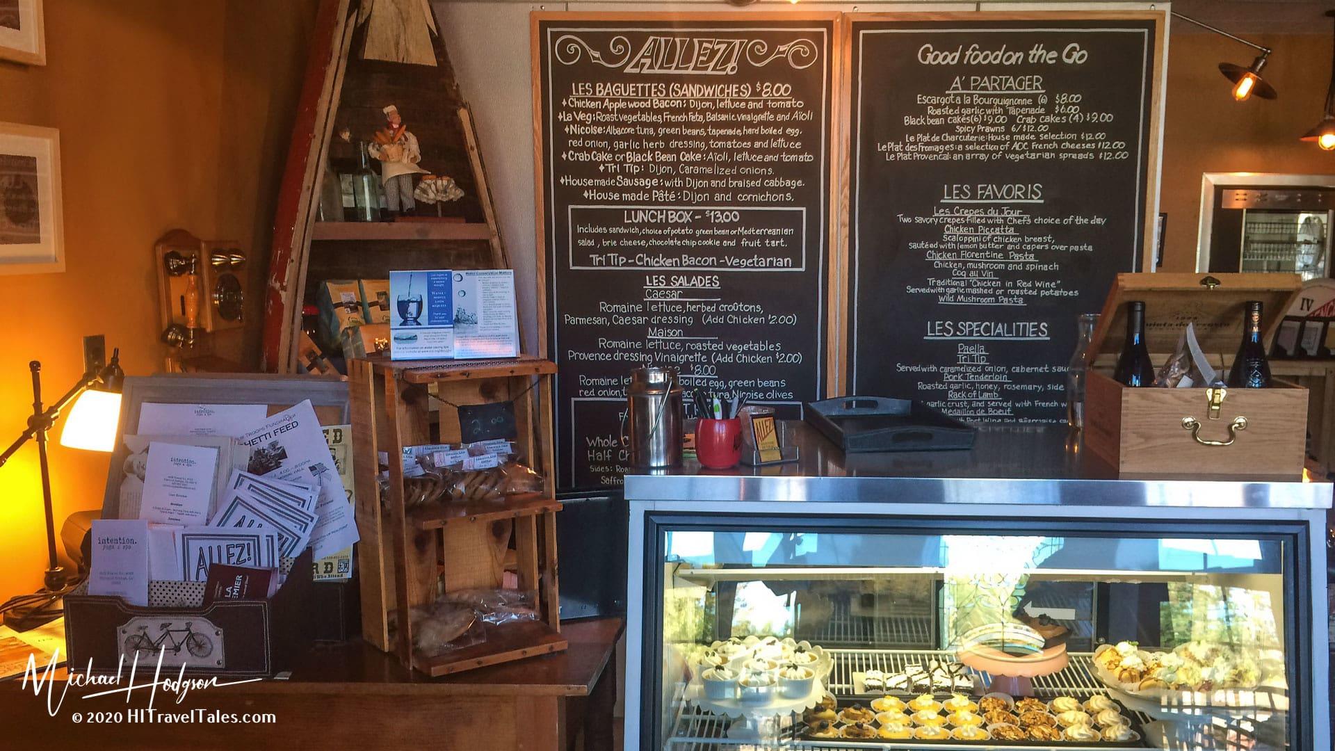Inside Allez! French Restaurant