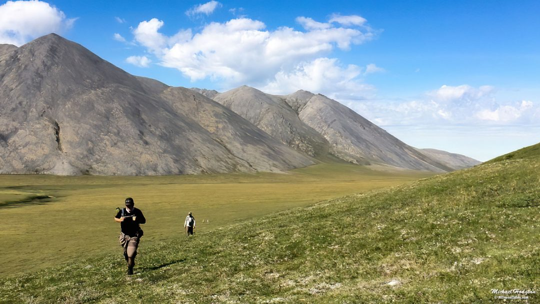 Hiking In Sunset Pass Arctic National Wildlife Refuge
