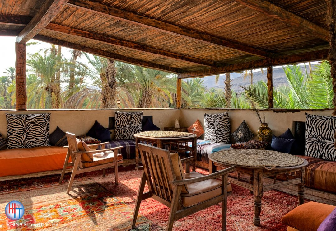 Bab El Oued Ecolodge Upstairs Dining And Seating