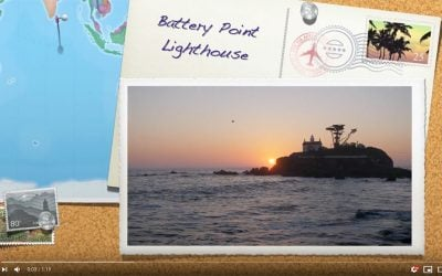 A short video featuring Battery Point Lighthouse