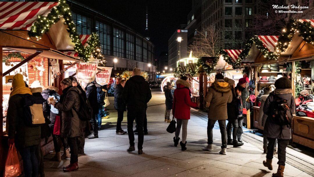 Christmas Market In Friedrichstrasse Berlin